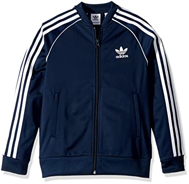 466615e6c921 adidas Originals Kids Boy s Superstar Top (Little Kids Big Kids) Collegiate  Navy X