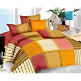 TIB 152 TC Cotton King Bedsheet with 2 Pillow Covers - King Size,(90 * 108), Multi