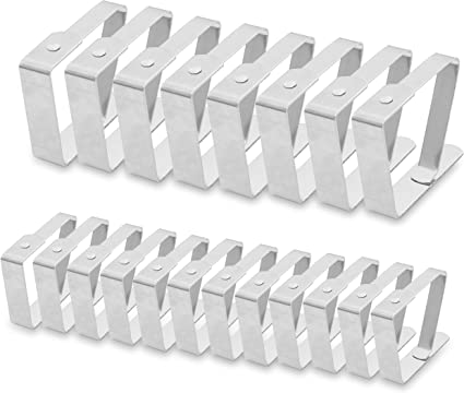 Confezione da 8 clip per tovaglia da picnic in acciaio inox ideali per feste in casa e picnic flessibili