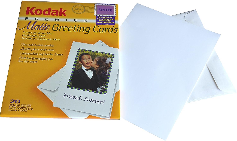 KODAK PREMIUM INKJET MATTE GREETING CARDS 20 CARDS AND 20 ENVELOPES
