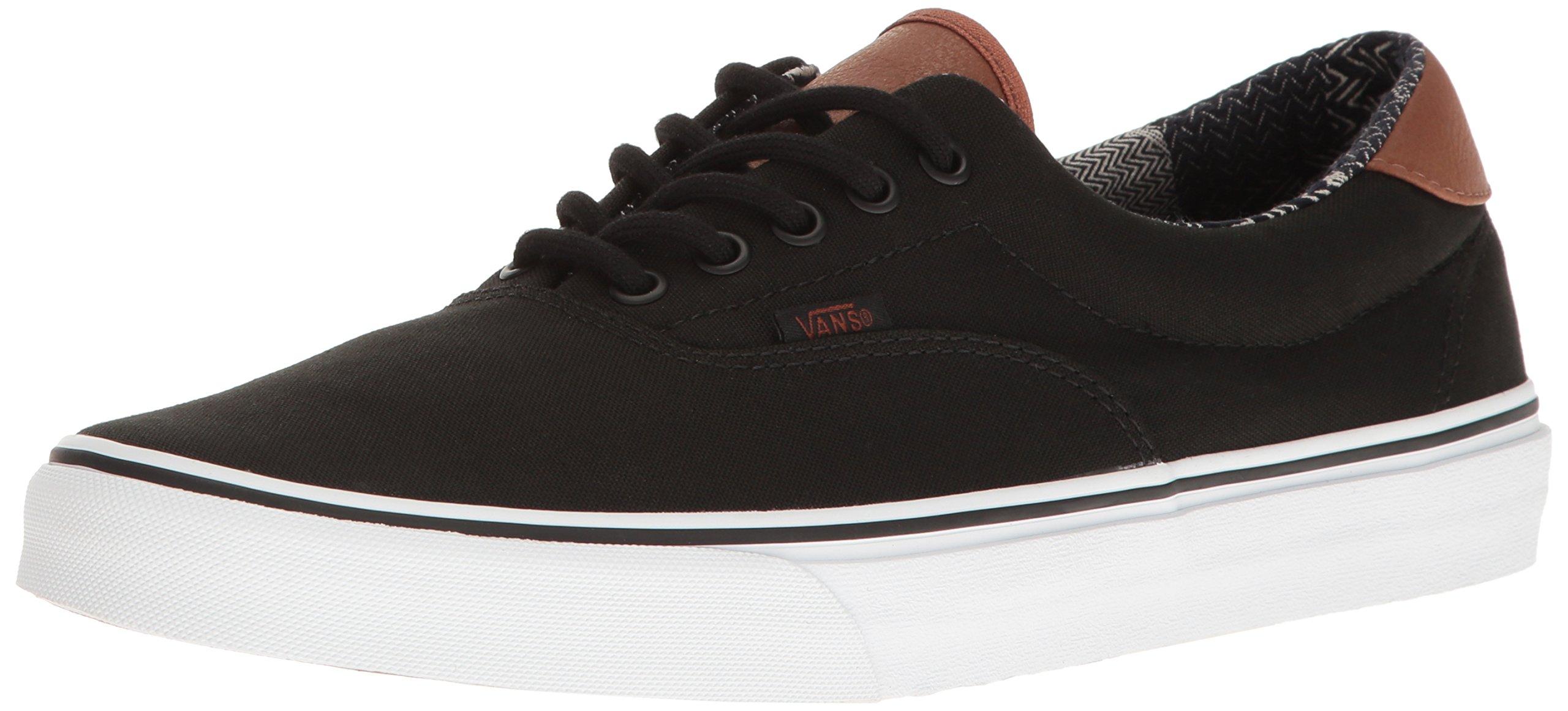 eac4f0e6cc Galleon - Vans Unisex Era 59 (C L) Blac Black Material Mix Skate Shoe 10.5  Men US 12 Women US