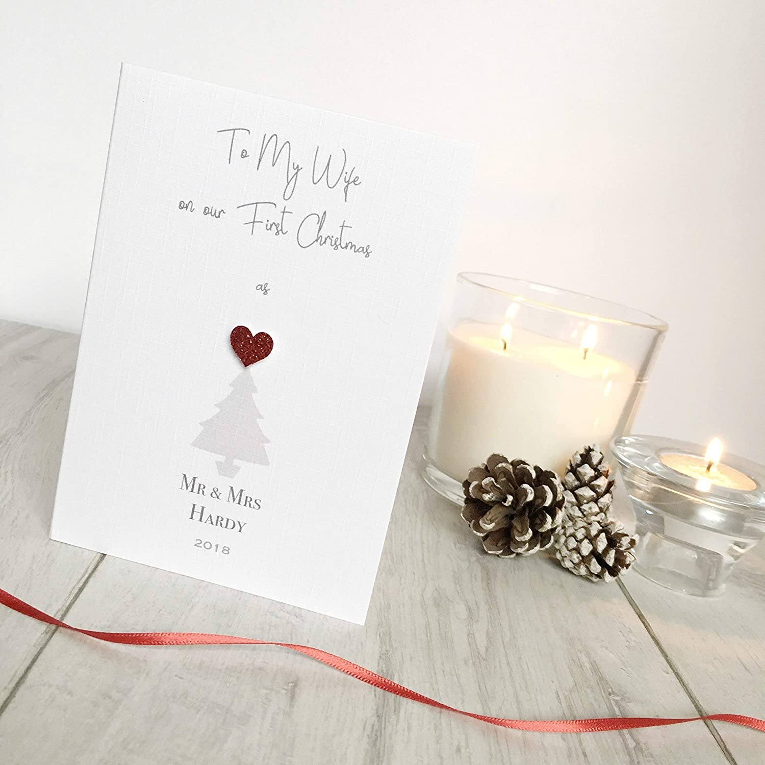 Our First Married Christmas As Mr /& Mrs - Personalised Christmas ...