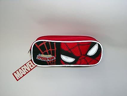 Estuche 2 cremallera Spiderman Marvel: Amazon.es: Oficina y papelería