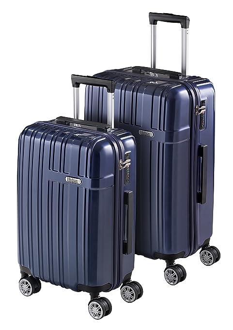 Juego de 2 Maletas de Viaje SULEMA fabricadas en ABS y Policarbonato Set Maleta Trolley Rígida