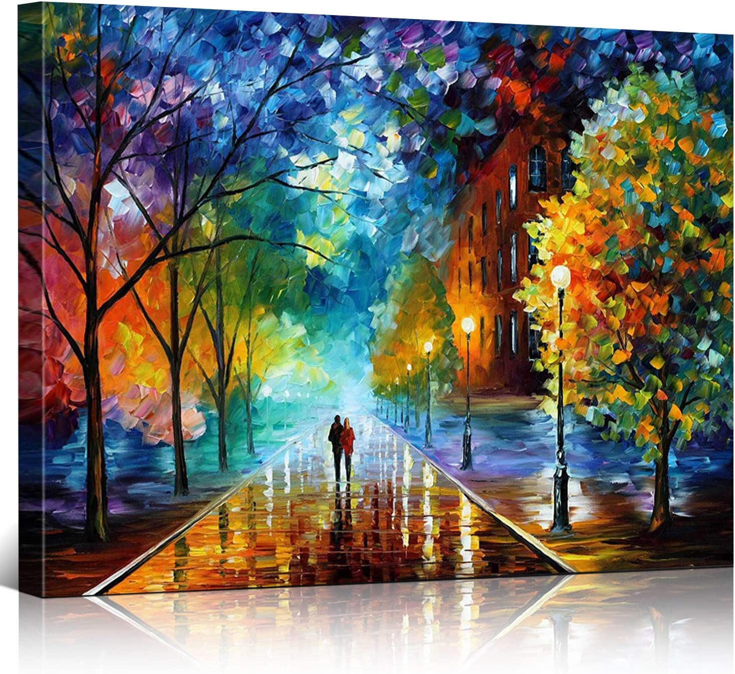 Amazon.com: Rihe DIY Oil Painting Paint By Numbers Kits with Brushes and  Acrylic Pigment for Adults Kids Beginner - Romantic Night 16x20 Inch(Wooden  framed): Paintings