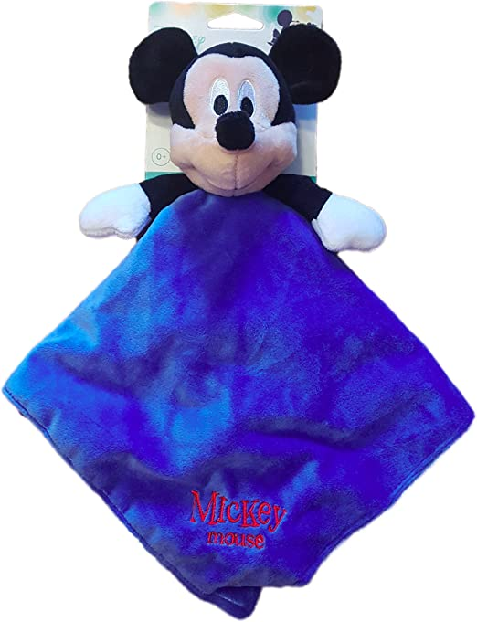 "Disney Mickey Mouse Blue Plush Security Blanket Lovie//Lovey 13/"" X 13/"""