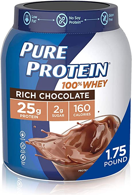Amazon Com Whey Protein Powder By Pure Protein Gluten Free Health Personal Care