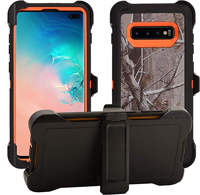 Protective Drop-Proof Shock-Proof Orange//Camouflage Military Grade Protection with Carrying Belt Clip AlphaCell Cover Compatible with Samsung Galaxy S8 Holster Case Series