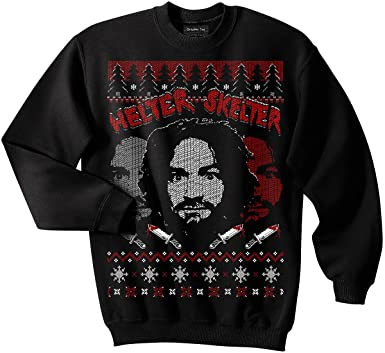 charles manson sweatshirt helter skelter serial killer ugly christmas sweater - Misfits Christmas Sweater