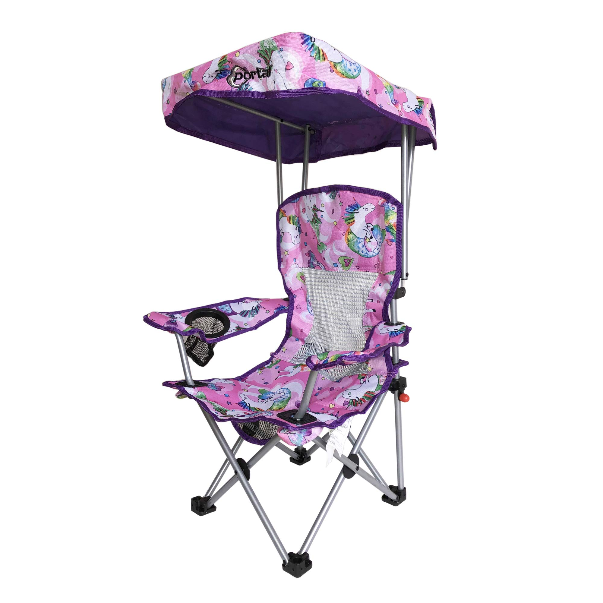 Kid's Folding Chair with Canopy and Durable Carry Bag Purple Unicorn by Westfield Outdoor (Image #2)