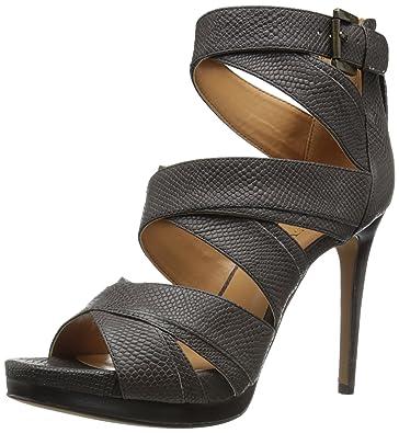 a8de890aca7a Amazon.com | Nine West Women's Bonjorno Leather Heeled Sandal, Dark ...