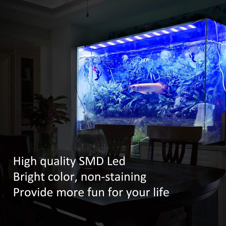 FTALGS Luz LED Acuario, lampara Acuario,Pantalla LED Acuario, Iluminación LED para Acuarios Plantados Lámpara LED (70-90CM): Amazon.es: Productos para mascotas