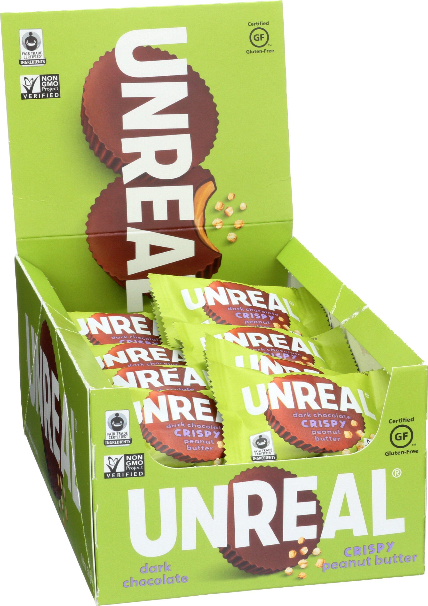 UNREAL Dark Chocolate Crispy Quinoa Peanut Butter Cups, 40 Count by UNREAL