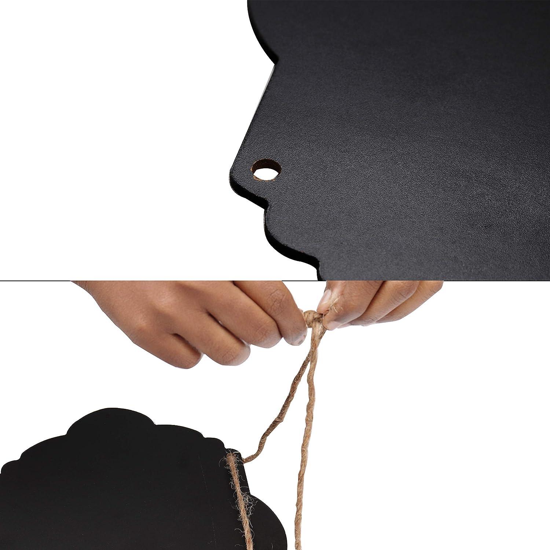 Mensajes Borrables Pack de 4 Bodas Mini Pizarra Rectangular para Ni/ños - Pizarras Shabby Chic Decorativa con Cordel Mini Pizarra de Madera Restaurantes Perfecto para el Hogar Men/ú de Cocina