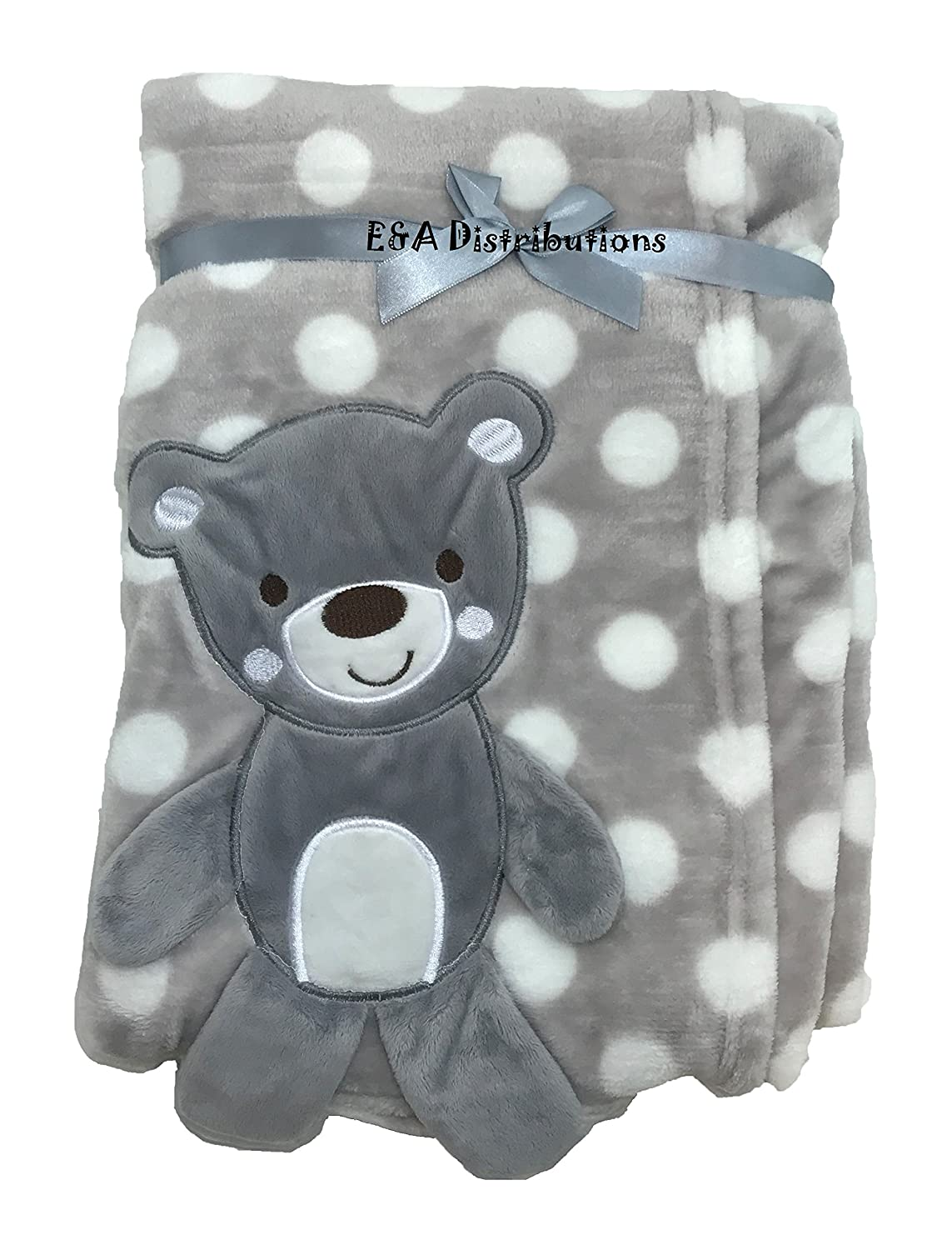 3D Grey Teddy Blanket