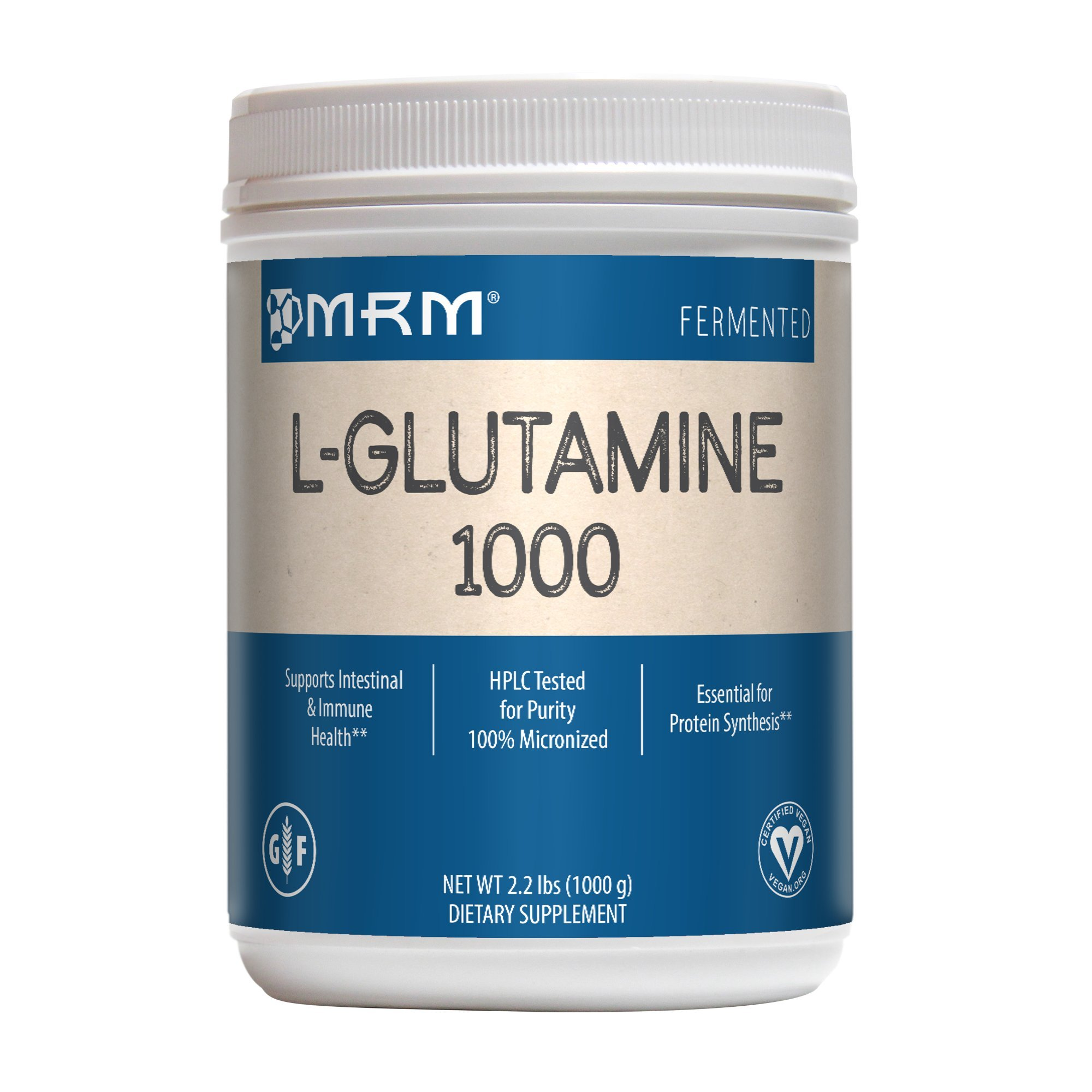MRM L-Glutamine 1000mg Powder, 2.2 lbs