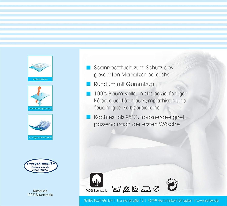 Blanc 1308090190404002 SETEX Serg/é Prot/ège-matelas molletonn/é drap-housse Basic 90 x 190 cm 100/% Coton