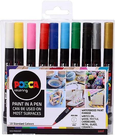 Posca PCF-350 - Pack de 10 rotuladores de pintura al agua ...