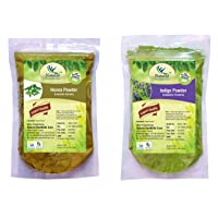 Natural Healthlife Care Natural Henna/Lawsonia Inermis and Indigo/Indigofera Tinctoria Leaves Powder, 227g (henna indigo -454) - Pack of 2