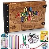 Album Fotografico Fai da Te, Smartick < Our Adventure Book > Scrapbook DIY 80 pagine, con scatola di immagazzinaggio e kit di accessori fai-da-te