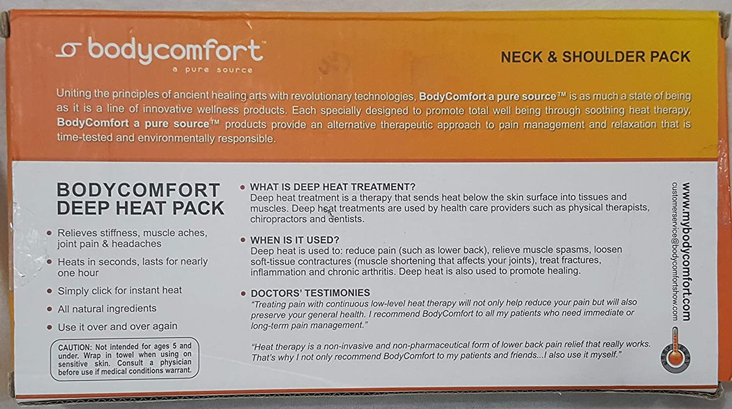 Amazon.com: Instant Heat Pack (Neck and Shoulders): Health & Personal Care