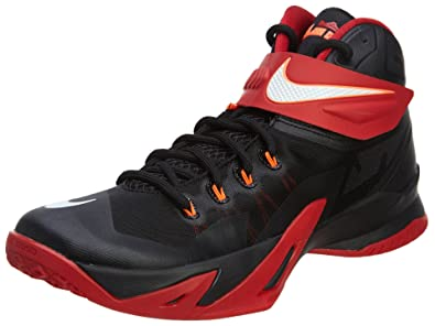 da2786b0fe4 Nike Men s Zoom Soldier VIII Basketball Shoe Black Red White Size 9 ...