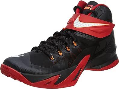 Nike Men's Zoom Soldier VIII Basketball Shoe Black/Red/White Size 13 M US