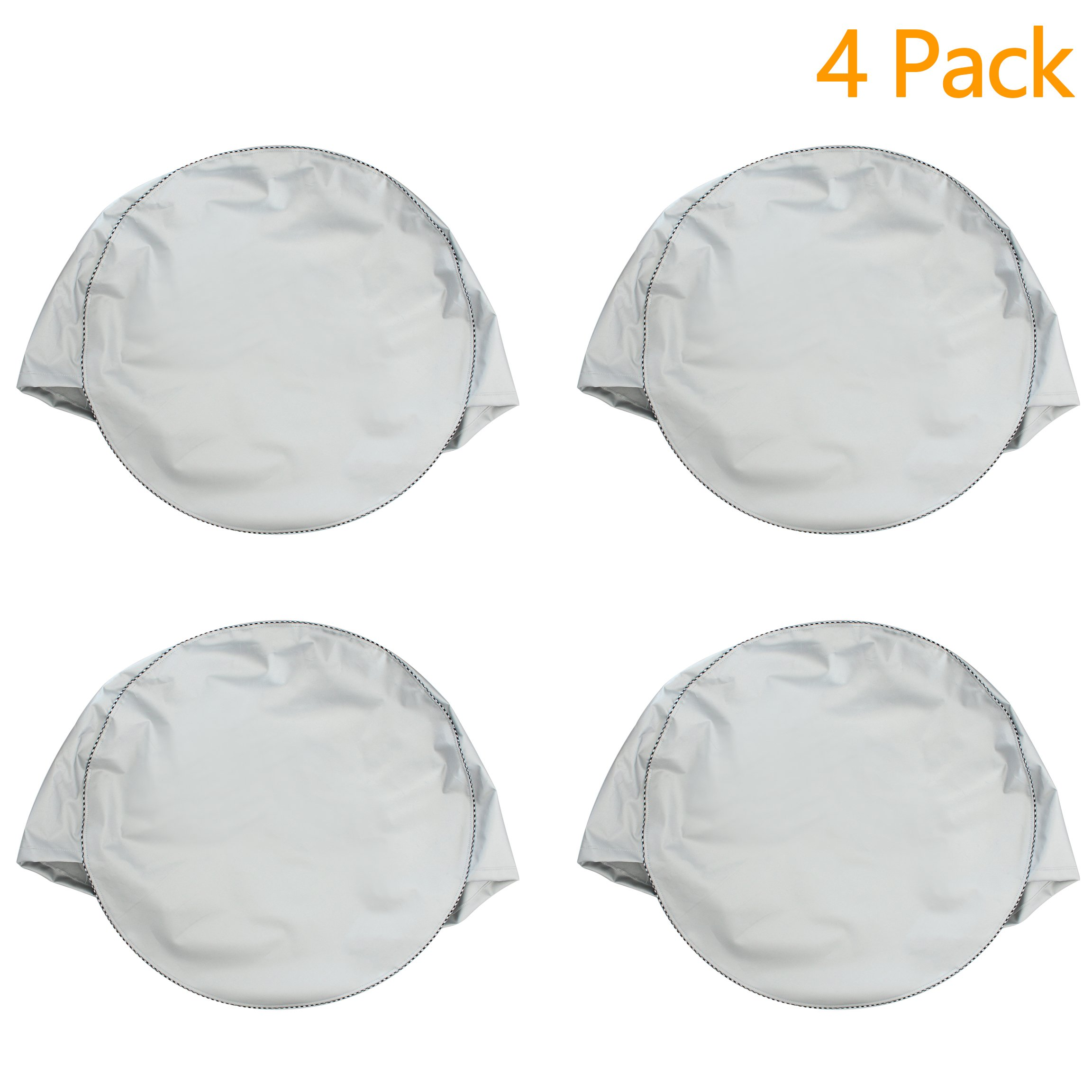 Mr.You Tire Covers For RV Auto Truck Car Camper Trailer Waterproof Sun-proof Fits 24'' to 26'' Tire Diameters 5 YR Warranty Silver 4 Pack