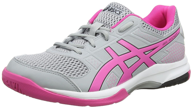 Asics Gel-Rocket 8, Zapatos de Voleibol para Mujer 44 EU Gris (Mid Grey/Pink Glow 020)