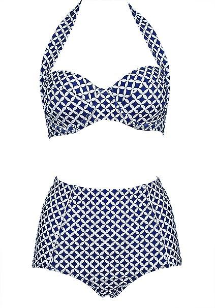 4de0f5fd919a Bikini de estilo retro para mujer
