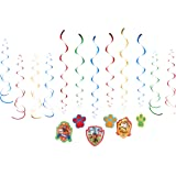 """Amscan 671462 Paw Patrol Value Pack Foil Swirl Decorations, Party Favor 5"""""""