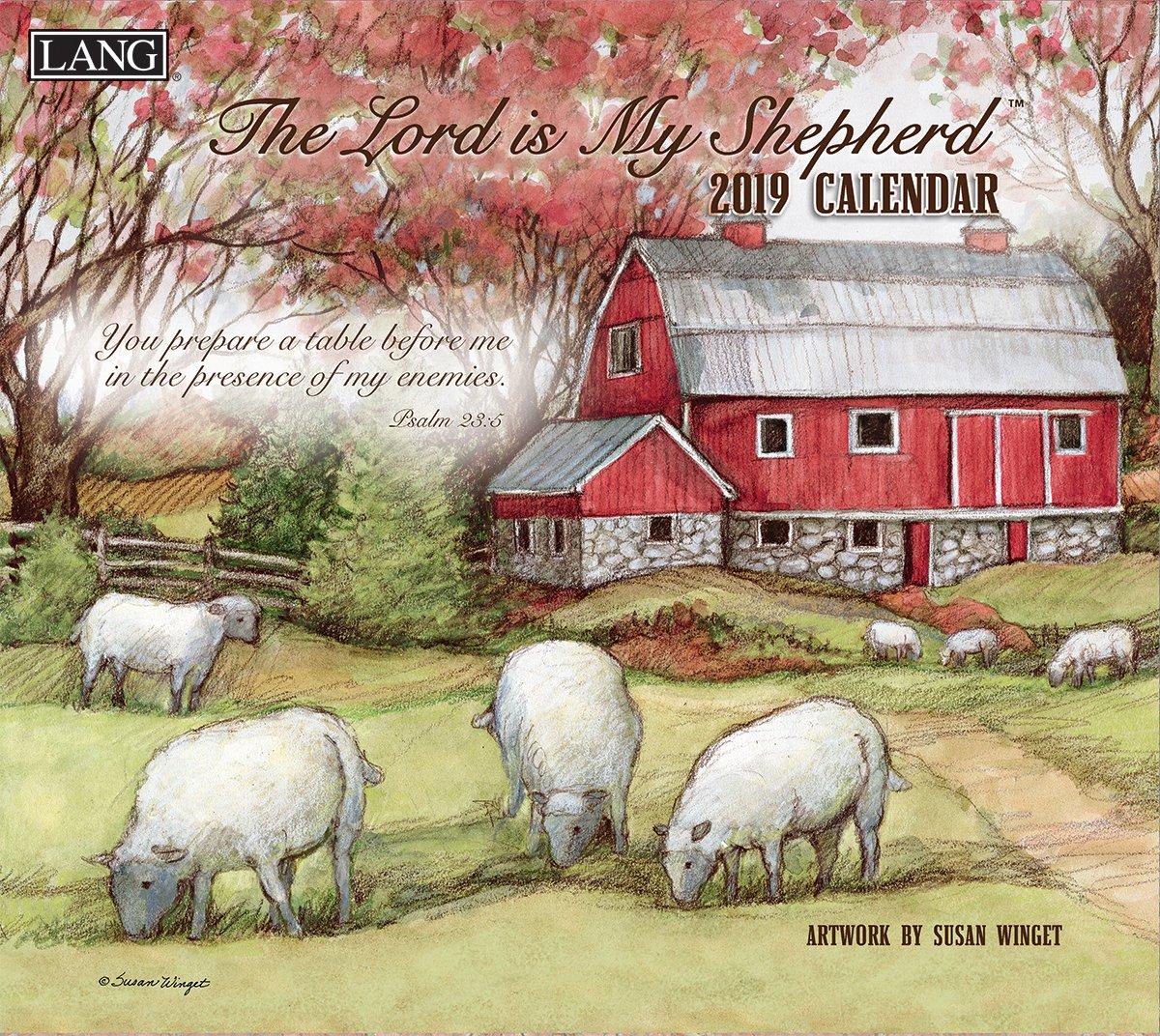 Lang Lord is My Shepherd 2019 Wall Calendar Office Wall Calendar (19991002000)