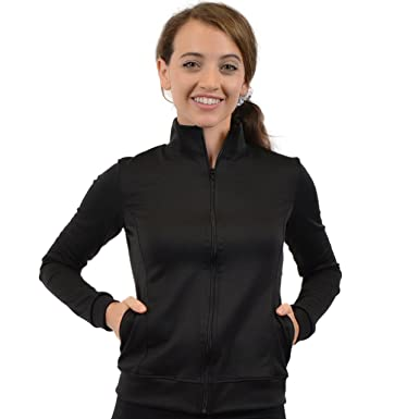 f519d282849 Stretch is Comfort Women s Teamwear Rayon Gymnastics Cheer Warm Up Jacket  at Amazon Women s Clothing store