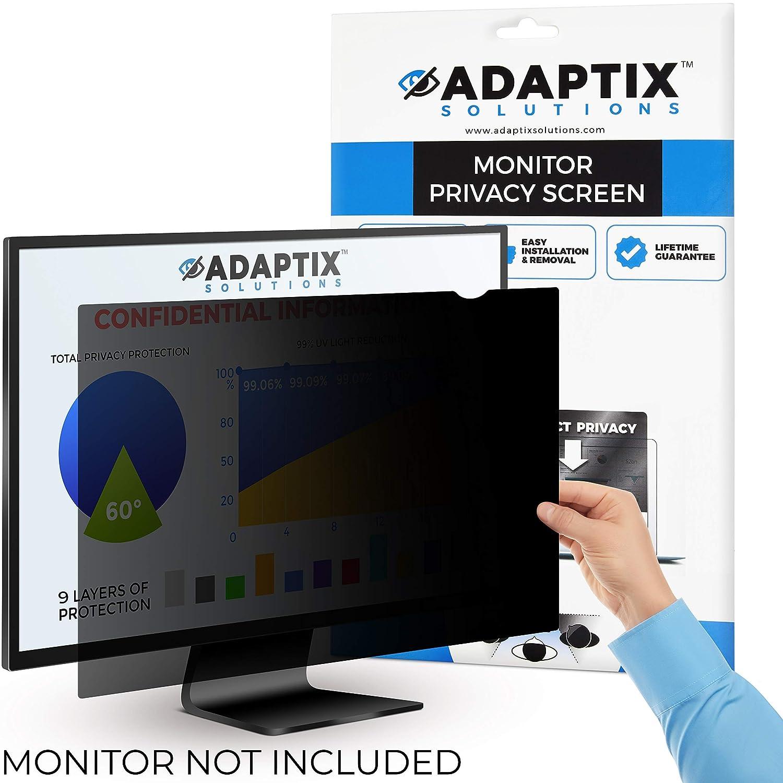 "Adaptix Monitor Privacy Screen 21.5"" for Desktop Computer Monitor and iMac 4K Retina – Anti-Glare, Anti-Scratch, Blocks 96% UV – Matte or Gloss Finish Privacy Filter Protector – 16:9 (APF21.5W9)"