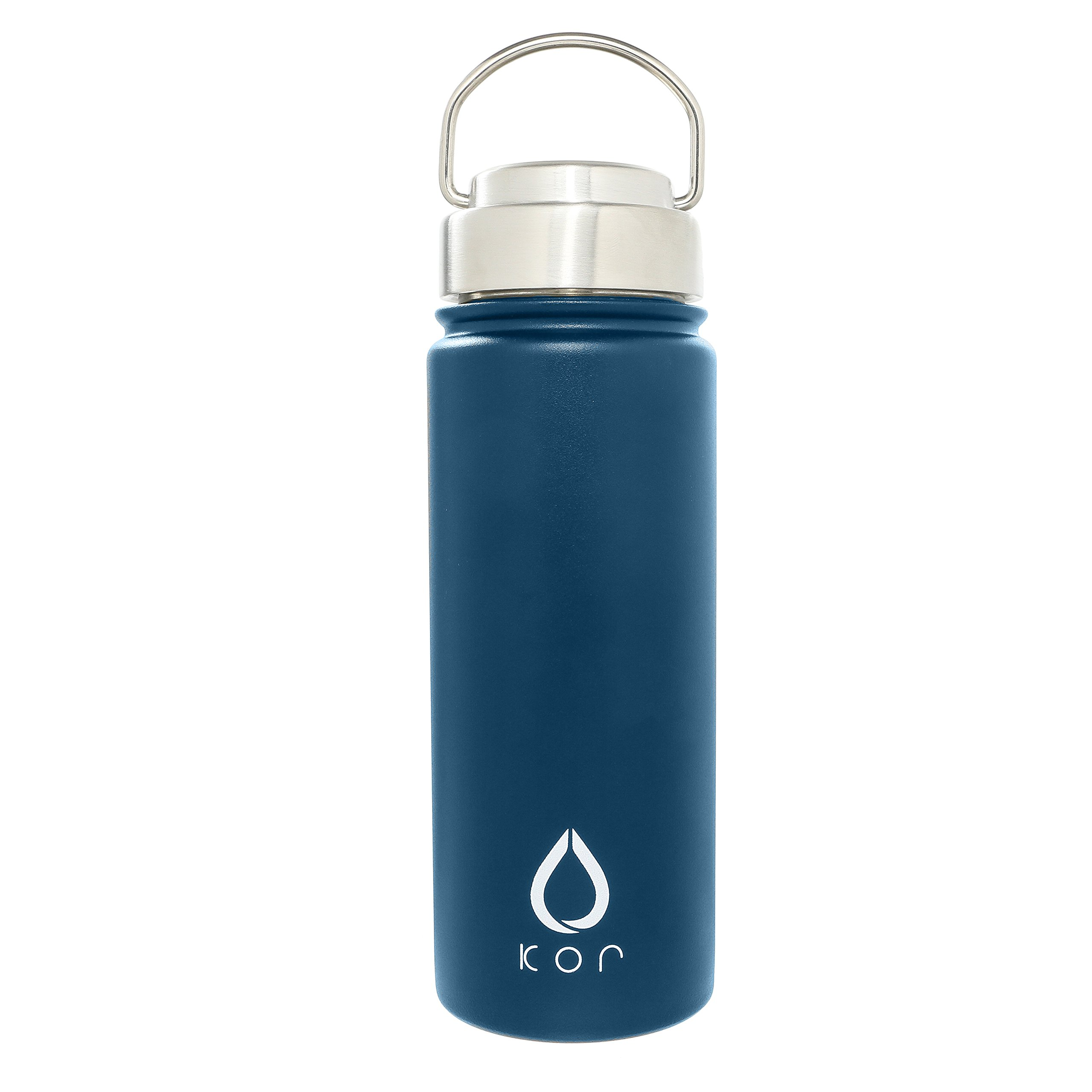 KOR ROK Double-Wall, Stainless Steel Water Bottle - Vacuum Insulated, Plastic-