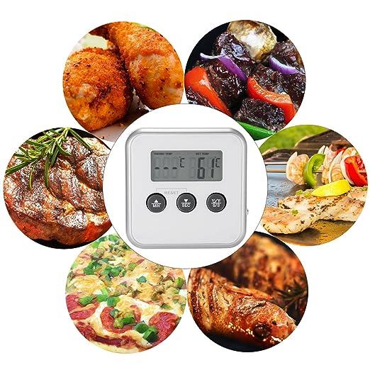Termómetro de Cocina, Yokamira 2 en 1 Termómetro Digital ...
