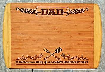 Amazon De Geschenk Dad Vater Gravur Gross Zweifarbig Bambus