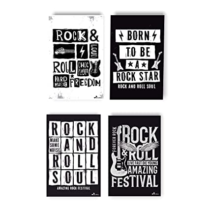 Rock and Roll Poster   Vintage Print Decor For Classroom   Classical Music  Concert Wall Art   The Greatest Musical Details For Room   Set Of Classic