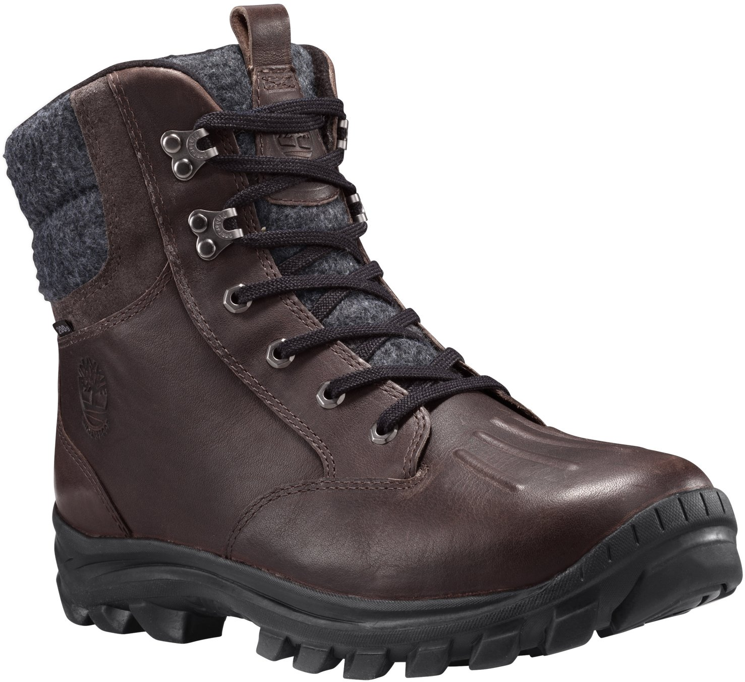 Timberland Men's Chillberg Mid WP Insulated Snow Boot, Mulch TBL Forty Full Grain, 10.5 M US