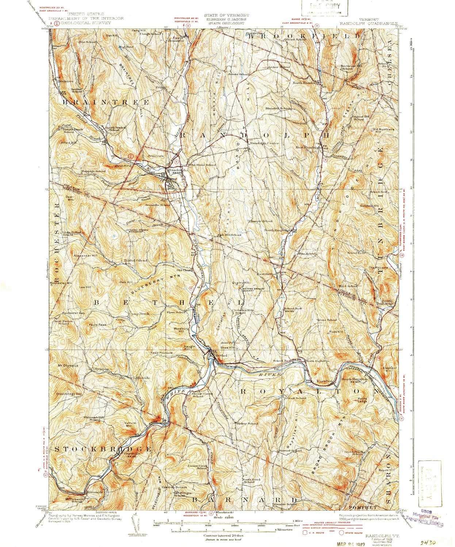 Amazon.com : YellowMaps Randolph VT topo map, 1:62500 Scale, 15 X 15 ...