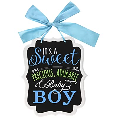 "Amscan ""It's a Sweet Boy"" Chalkboard Sign, Blue: Toys & Games"