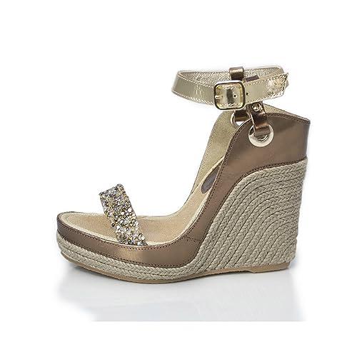 MTBALI - Sandalia Alpargata con cuña, Mujer - Modelo Nor Glamour: Amazon.es: Zapatos y complementos