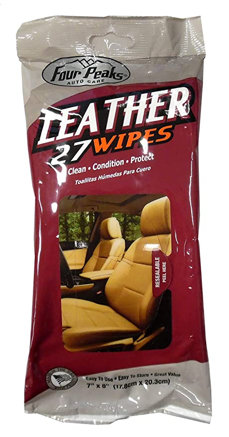 Four Peaks Leather Wipes Flat Pack, 27 Count