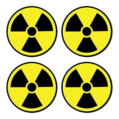 Amazon Sutter Signs Nuclear Radiation Warning Symbol Stickers