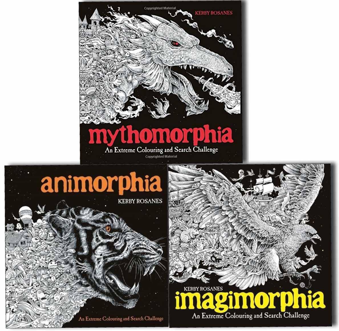 Animorphia Imagimorphia And Mythomorphia An Extreme Colouring And