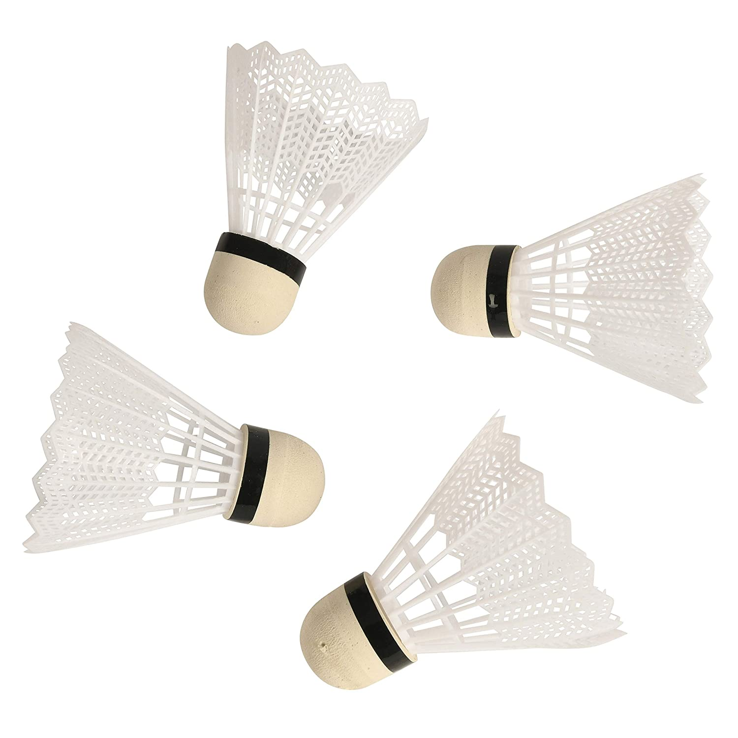 Wowow Toys /& Games Pack of 4 Badminton Shuttlecock Set For Kids Adults