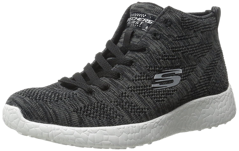 Skechers Sport Women's Burst Divergent Demi Boot Sneaker B011UHJCL4 5.5 B(M) US Black/White