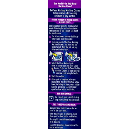 OxiClean Washing Machine Cleaner, 4 Count (5)