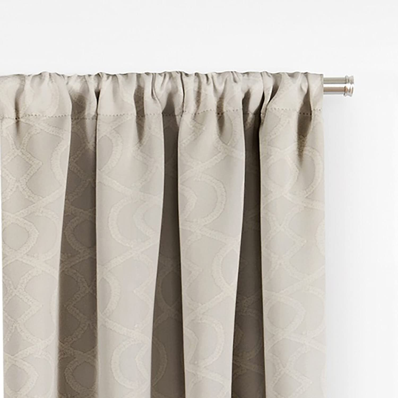 Grey Ellery Homestyles Eclipse 16430037084GRE Isanti 37-Inch by 84-Inch Single Room Darkening Window Curtain Panel