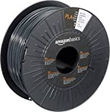 AmazonBasics PLA 3D Printer Filament, 1.75mm, Dark Gray, 1 kg Spool